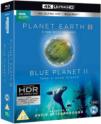 Planet Earth II & Blue Planet II Boxset - UHD Blu-ray + Blu-ray (bez CZ)